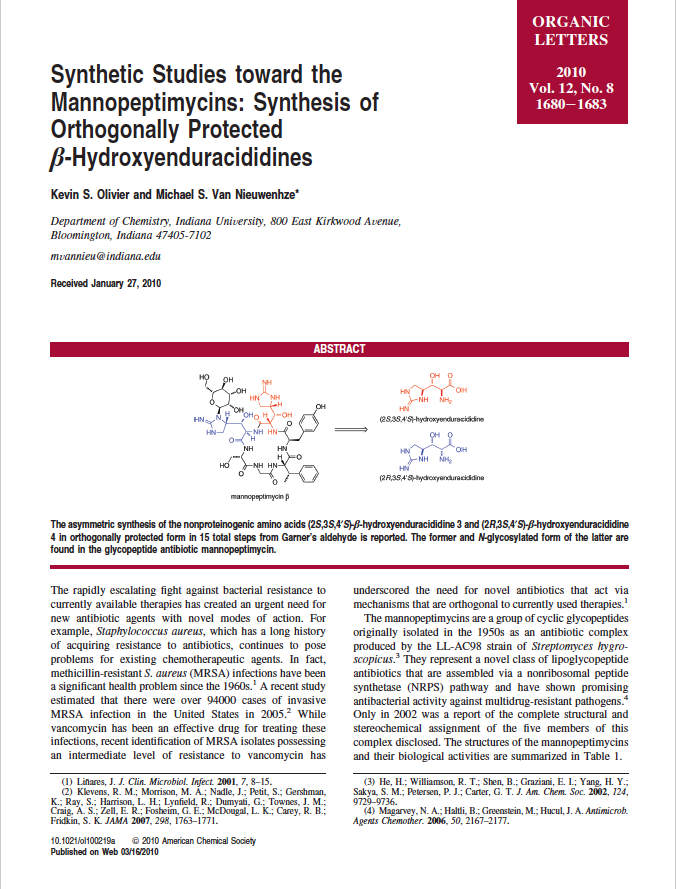 Synthetic Studies toward the Mannopeptimycins:  Synthesis of Orthogonally Protected ß-Hydroxyenduracididines